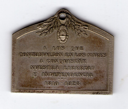 homenaje a los heroes navales 1810-1828 medalla