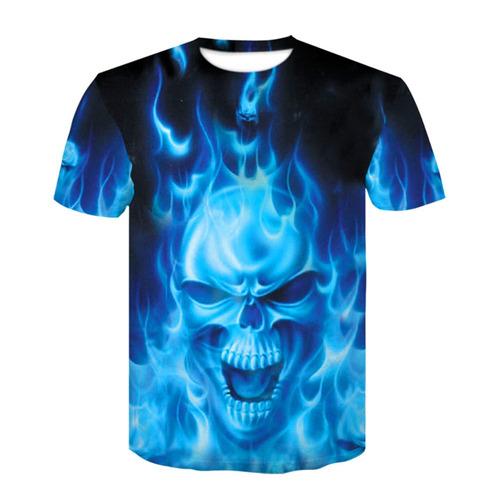 homens 3d impressão casual t - camisa