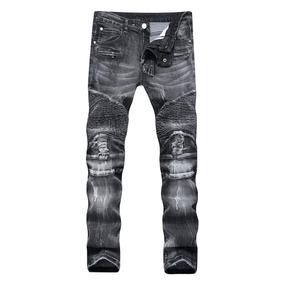 4dc31ecf7a Calça Jeans Feminina Atacado Fabrica Rua 44 Goiânia. Goiás · Homens Buracos Calças  Rua Motocicleta Biker Jeans Homens Qu