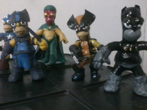 homero simpson superheroe parodia dc. marvel. ndd darkdagger