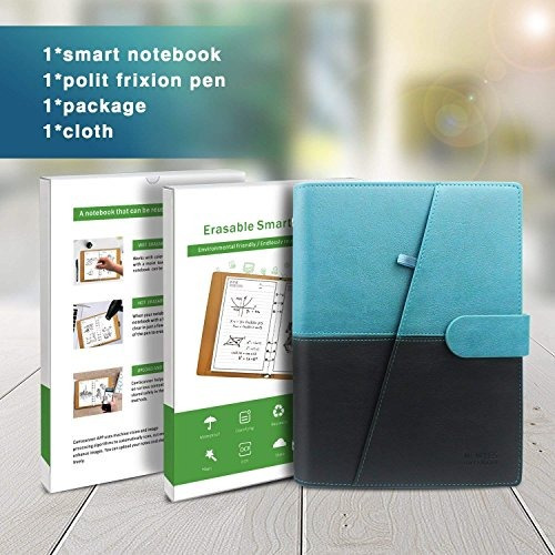 homestec cuaderno inteligente reutilizable borrable pu cuer