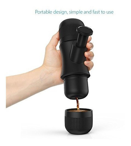 homgeek mini espresso maker maquina de cafe manual portatil