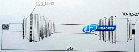 homocinetica semi-eixo comp actyon sport kyron 41300-31000