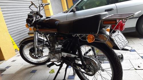 honda 125 cc / ml 1979    ** placa preta moto  de coleção **