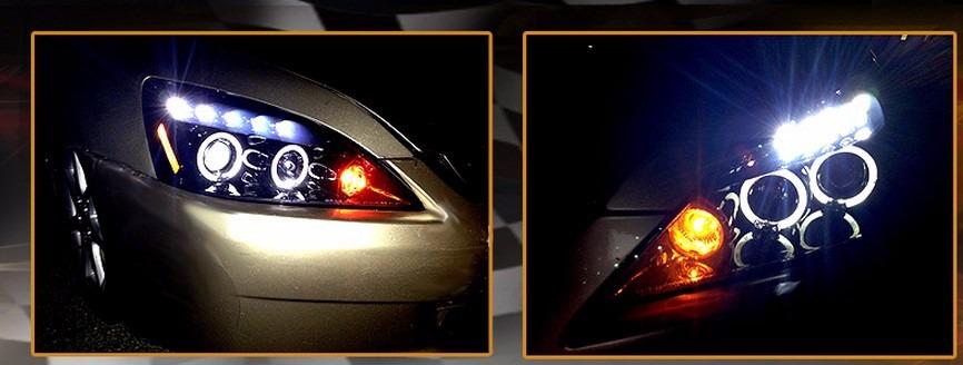 Honda Accord 2003 2007 Juego De Faros Con Ojo De Angel