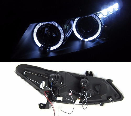 honda accord coupe 2008 - 2012 faros delanteros lupa y led