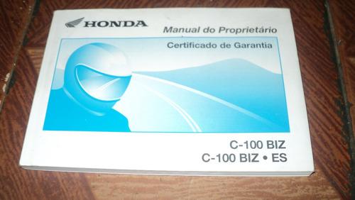 honda  c-100biz c-100biz.es ano 2002/3 manual proprietario