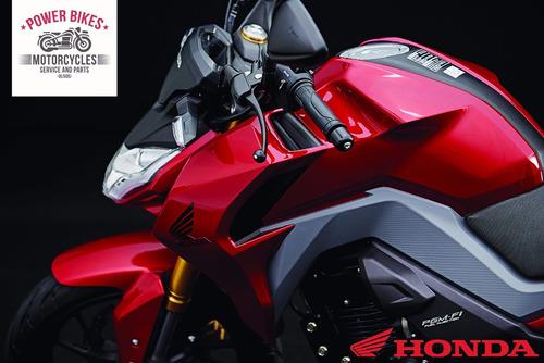 honda cb 190r 0km power bikes roja negra 2018