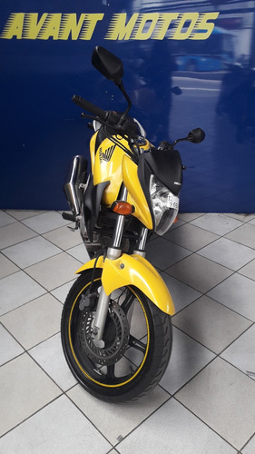 honda cb 300  amarela 2012