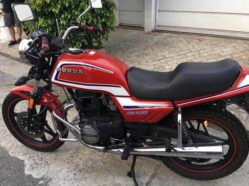 honda cb 400 - vermelha - tucunaré - 1984