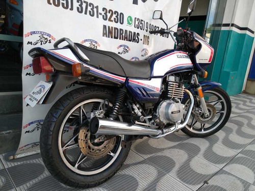 honda cb 450 1984 azul raríssima!!!