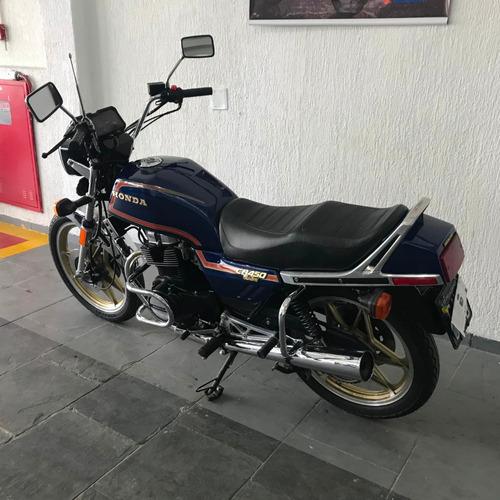 honda cb 450 custom - placa preta