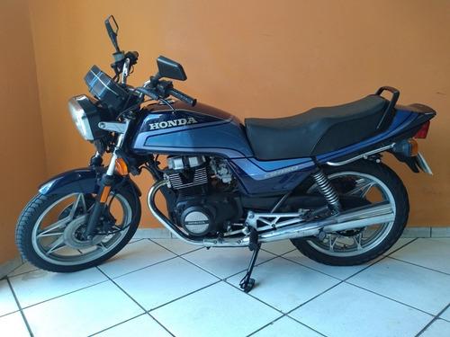 honda cb 450 dx 1991 azul