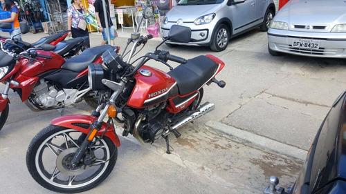 honda cb 450 tr 1987 vermelha e preta