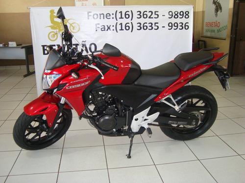 honda cb 500 f vermelho 2014