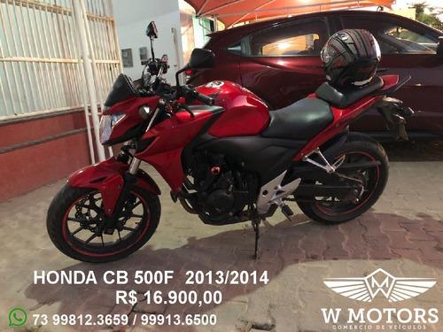 honda cb 500f 13/14 vermelha