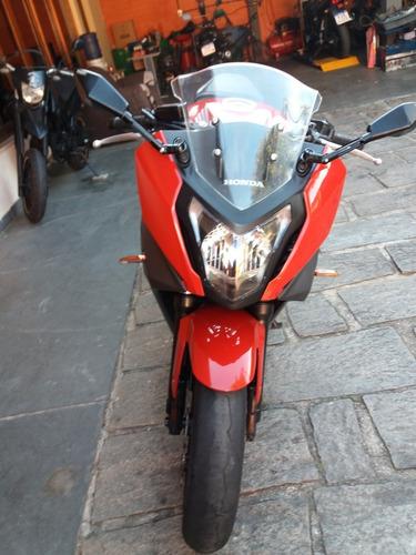 honda cb 650 f vermelha ano 2015