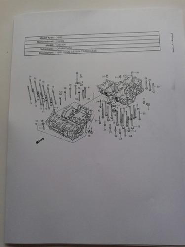honda cb 750 1980 + manual de deapiece envio x mail