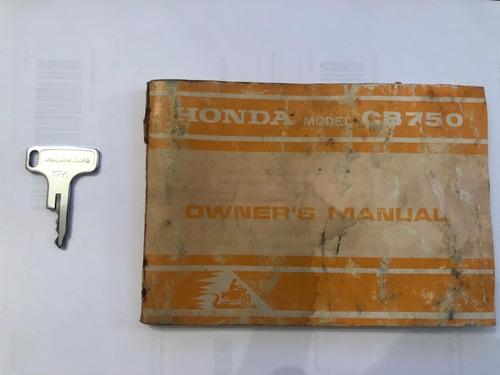 honda cb 750 four impecável feita do zero manual chave cópia