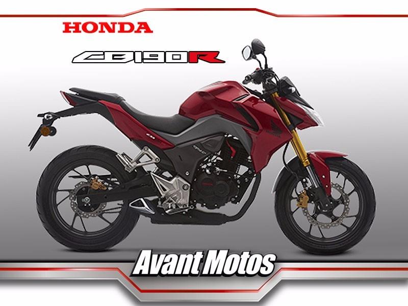 Honda Cb190r Negra 2019 0km Cb 190r Avant Motos
