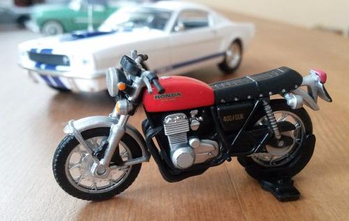 honda cb400 cb750, kawasaki, suzuki... coleção 8 motos 1:43