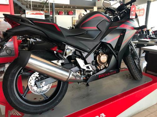 honda cbr 300 0 km 2019 nueva negra mate moto sur