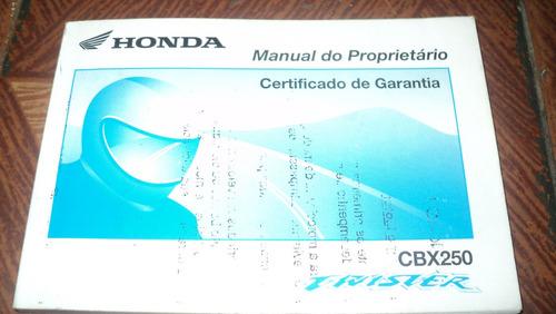 honda cbx250 twister ano 2002 manual proprietario