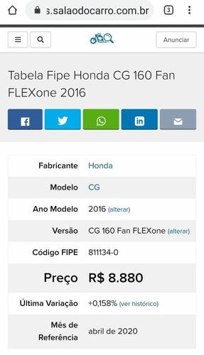 honda cg 160 fan flexone 2016