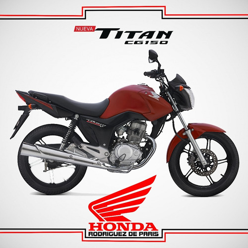 honda cg titan 0km roja 2020