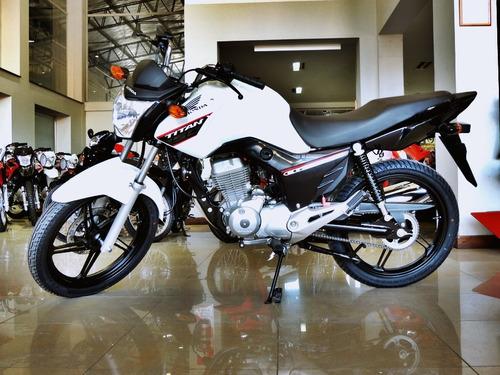 honda cg150 new titan 2020 cuotas fijas con dni blanco negro