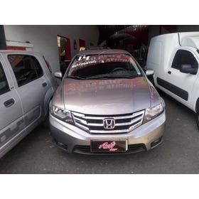 Honda City 1.5 Lx Flex Aut. 4p Ano 2014 Zero De Entrada