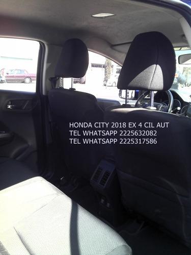 honda city 2018 automatico 4 cil 1.5 lts  enganche $ 45,600
