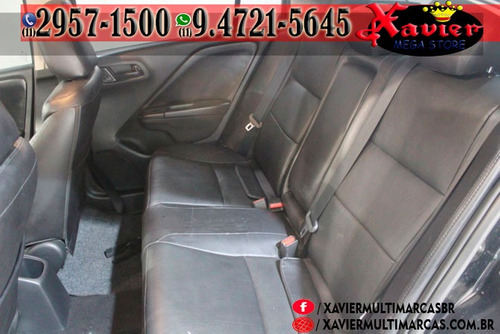 honda city lx 1.5 aut 2015 preta financiamento próprio 5835