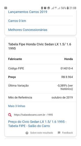 honda civic 1.6 ex 4p 1998