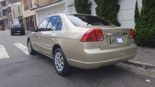 honda civic 1.7 lx aut. 4p 2002 dourado completo