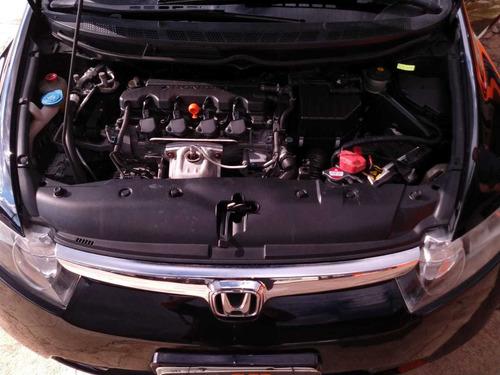 honda civic 1.8 lxs flex preto automático bc de couro 2008
