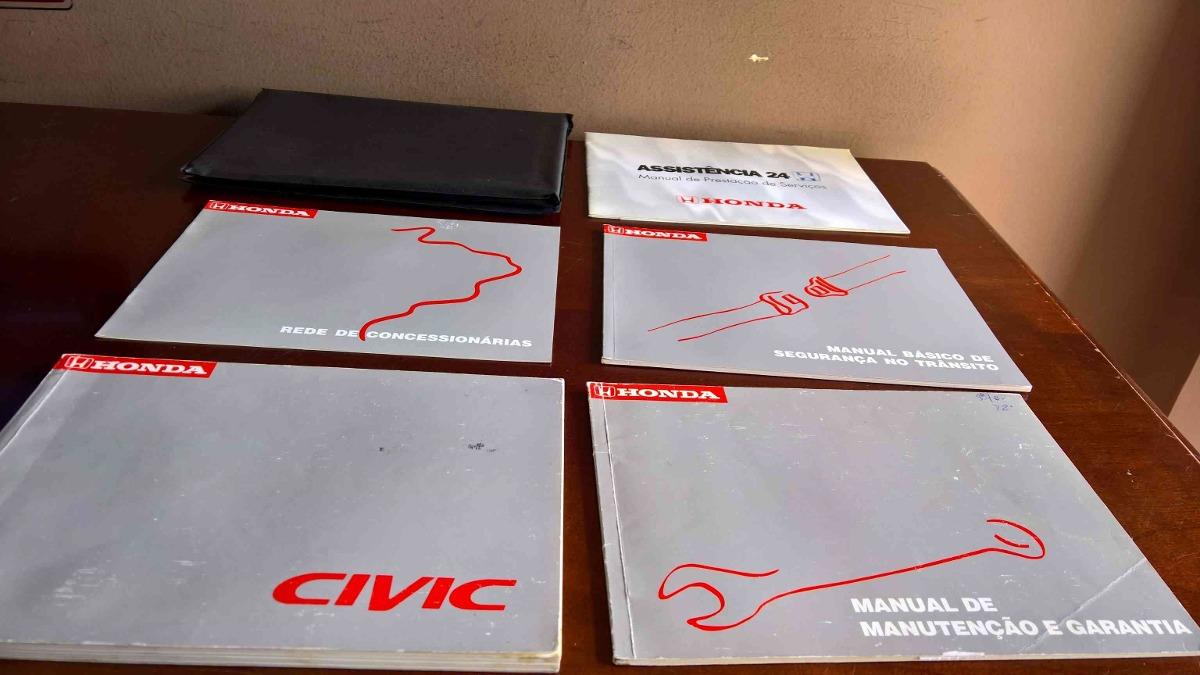 honda civic 1999/2000 manual do proprietario 72k. Carregando zoom.