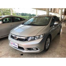 Honda Civic 2.0 Exr Automático Flex Prata 2014