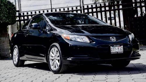 honda civic coupe 2012 1.8l 2 puertas negro