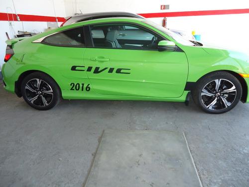 honda civic coupe verde 2016 aut 4 cil
