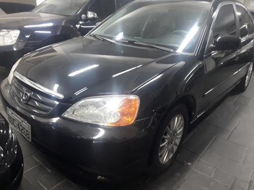 honda civic ex 1.7 preto auto 4p 2001 $12900
