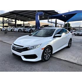 Honda Civic Ex Cvt 2017 Blanco Orquidea