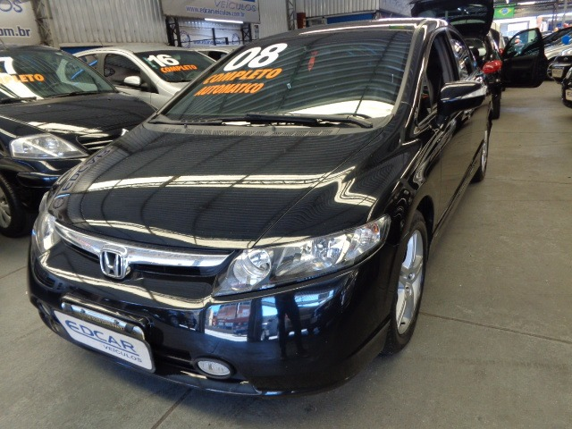 Honda Civic Exs 1.8 2008 Cambio Borboleta