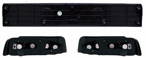 honda civic hatchback 1988 - 1991 juego de calaveras negro