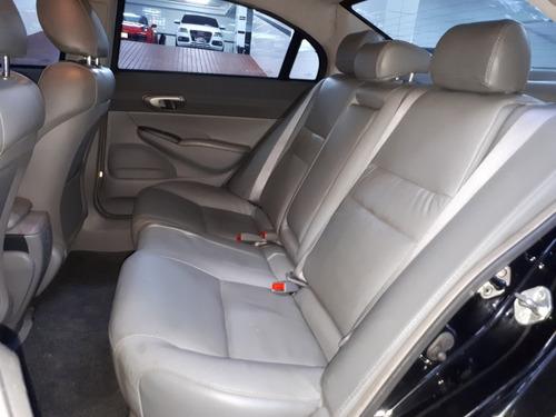 honda civic lxs 1.8 automático flex 2010 preto blindado