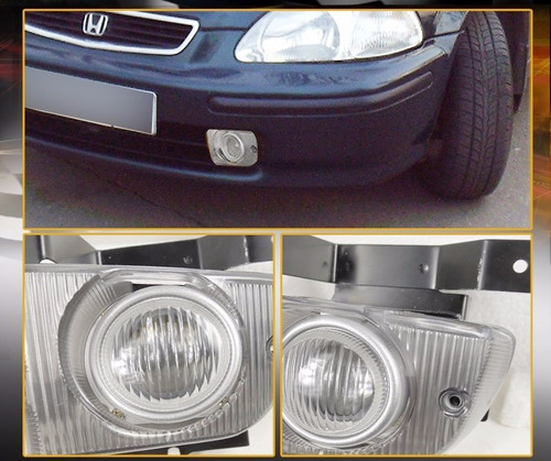 honda civic sedan 1992 - 1995 par de faros antiniebla
