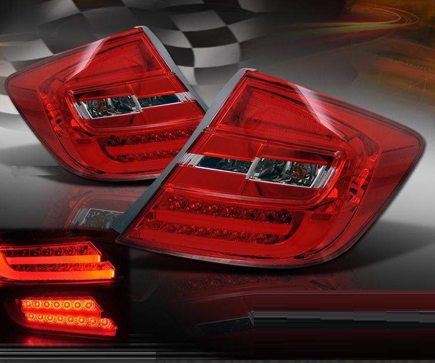 Honda Civic Sedan 2012 - 2013 Juego De Calaveras Tipo Led ...