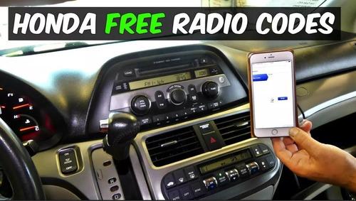 honda codigo de radio