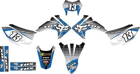 honda crf 230f 2015 kit grafico adesivo moto trilha md azul