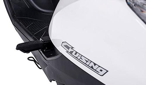 honda cruising 125, blanca, 4 tiempos, monocilindrico